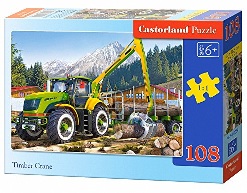 Castorland Timber Crane Jigsaw (108-Piece)