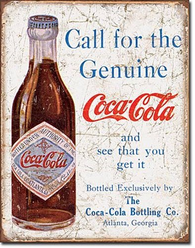 Coke - Call for the Geniune Metal Tin Sign 0