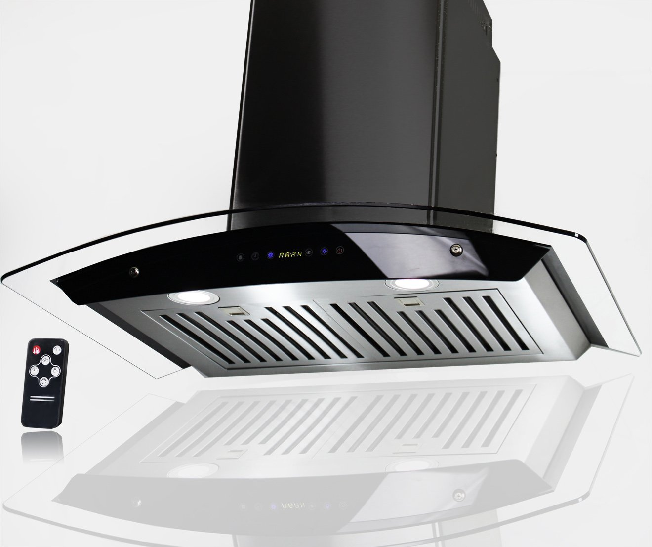 AKDY 30'' Stainless Steel AZ-3S866BK-75 Wall Mount Range Hood With Remote Control
