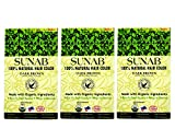 SUNAB-CERTIFIED ORGANIC AND 100% NATURAL DARK BROWN (TRIPPLE PACK) HAIR COLOR