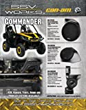 "SSV Works Can-AM Commander Rear Stereo Speaker Pods designed for 6 1/2"" Speakers"