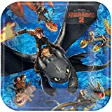 """How to Train Your Dragon 9"""" Luncheon Plates (8 Pack)"""