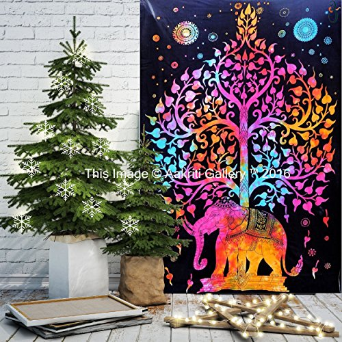 tapestry-single-tree-multi-elephant-wall-hanging-art-decor-mandala-tapestry-hippie-dorm-84x55-inches