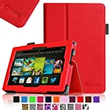 Fintie Amazon All New Kindle Fire HD 7 inch Slim Fit Folio Case with Auto Sleep / Wake Feature (will only fit All New Kindle Fire HD 7 2013 Model) - Red
