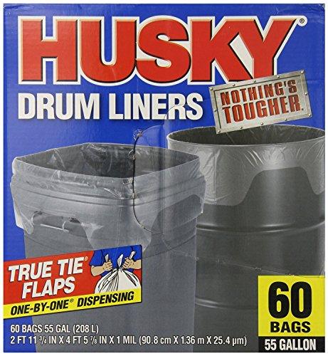 Husky Drum Liners : Husky drum liners gal clear ct buk tz