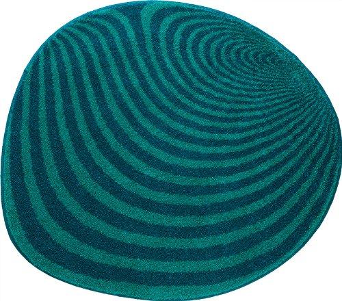 Grund 351242220 Badteppich rund Pebble, 70 cm, blau / grün