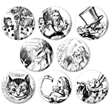 Alice's Adventures in Wonderland 1.25 Inch (32mm) Pinback Button Badge Set 1