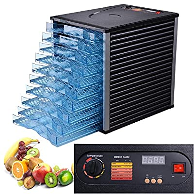 10 Tray 800W New Commercial Food Preserve Dryer Dehydrator Thermostat Adjustable by Yescom