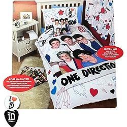 Character World 135 x 200 cm One Direction Doodles Single Panel Duvet Set, Multi-Colour