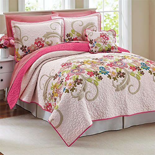 Pink And Green Twin Bedding