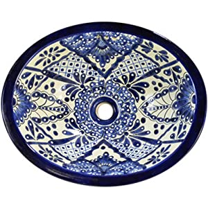 Talavera Mexican Hand Painted Sink - Bathroom Sink Faucets - Amazon ...