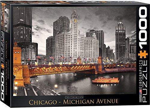 EuroGraphics Chicago Michigan Avenue Puzzle (1000-Piece) (Chicago Puzzle 1000 compare prices)