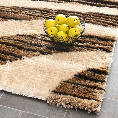 Safavieh Miami Shag Collection SG364-1391 Beige and Multi Shag Area Rug, 8-Feet by 10-Feet