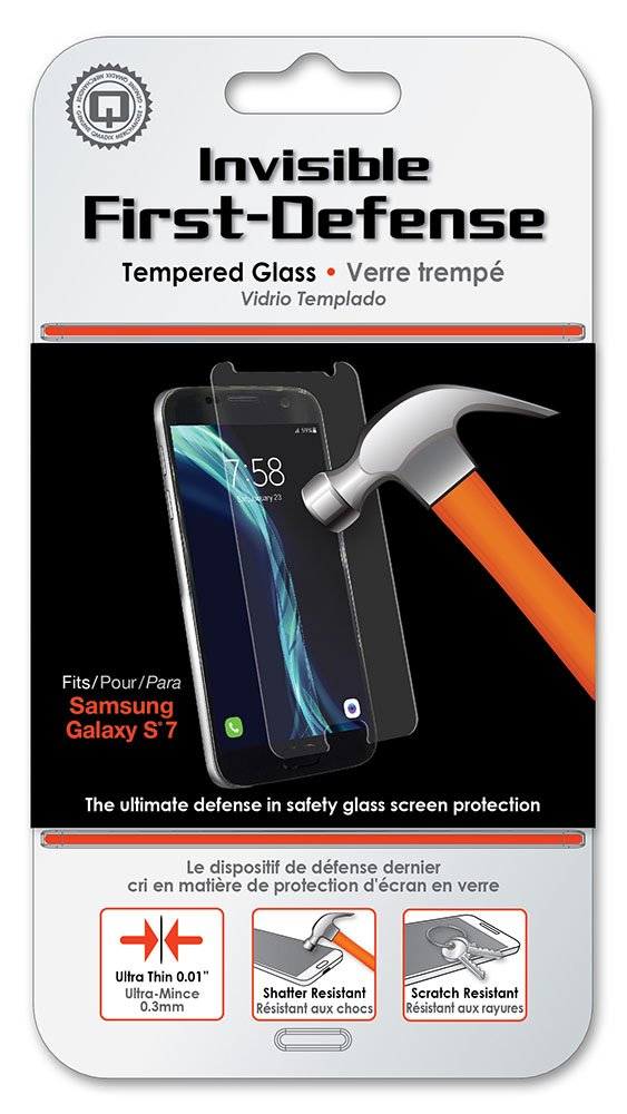Qmadix Invisible First-Defense Tempered Glass for Samsung Galaxy S7 - Clear
