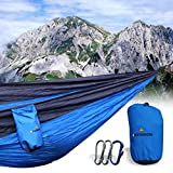 bOutdoors Nylon Parachute Hammocks with Straps and Accessories, Blue