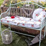 Vintage Style Floral Garden Bench Lon...