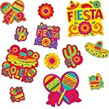 "Amscan Cinco De Mayo Fiesta Assorted Cutouts Value Pack Decorations (30 Piece), Multi Color, 14.1 x 12.5"""
