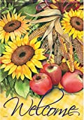 Sunflowers and Apples Garden Flag Fall 13