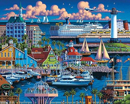 Dowdle-Folk-Art-Long-Beach-Puzzle-500-Pieces