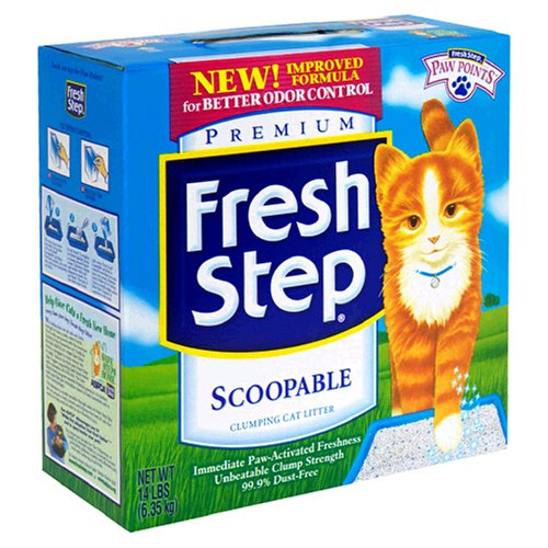 Fresh Step Scoopable Cat Litter, Clumping, 14 lb (6.35 kg)