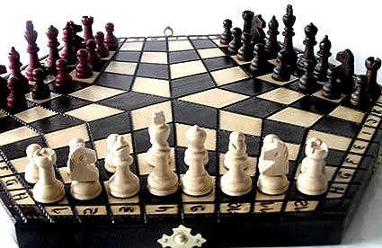 ChessEbook Bois massif, trois de personne, jeu d'échecs 40 x 35 cm