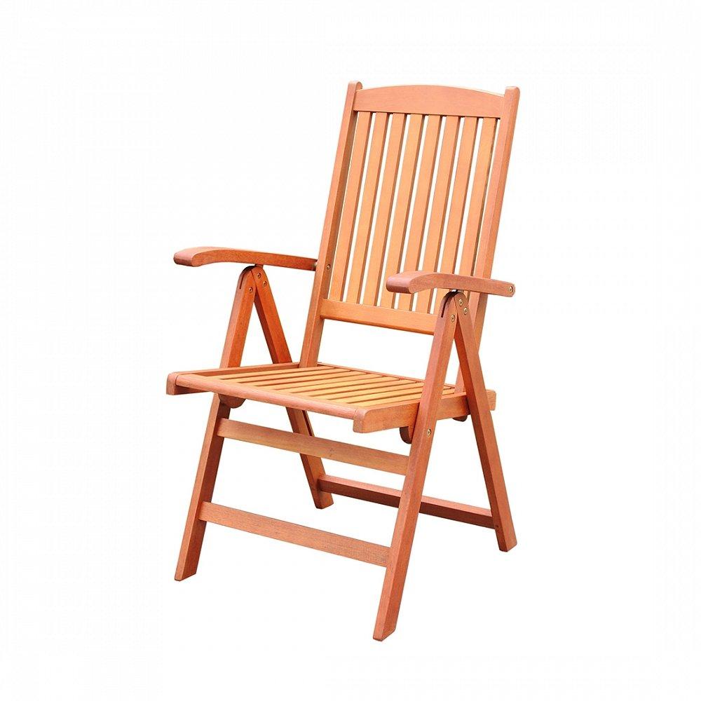 Holz Gartenstuhl – Stuhl mit verstellbarer Rückenlehne – Gartenmöbel – Holzstuhl  –  TOSCANA günstig kaufen