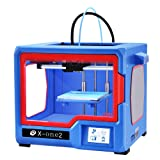 QIDI TECHNOLOGY 3D Printer, New Model: X-one2 (Red-Blue Version), Fully Metal Structure, 3.5 Inch Touchscreen (Color: Red-Blue Color)