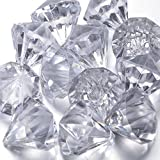 FUNLAVIE®Acrylic Diamond Hanging Crystal Ornament for Manzanita or Christmas Tree & clear string, Weddings, Parties and Other Event Decoration - 10 pcs