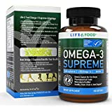 Omega-3 Supreme Fish Oil 1400 mg For Brain and Heart Health. MSC Certified +75% Omega-3s 1050 mg, 644/336, NO Fish-Burps & Improved Absorption | Molecular Distilled, Mercury/PCB/Toxin Free (180 ct)