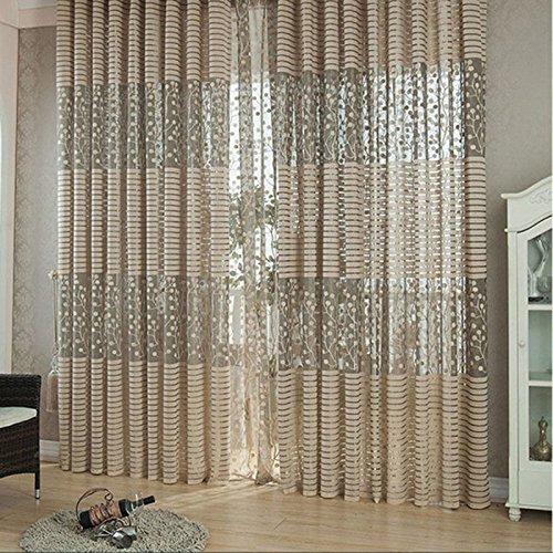 Vktech rideau de fen tre rideau en voile convient pour for Acheter des fenetres