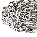 4.0mm x 19mm x 8mm HEAVY DUTY THICK STEEL WELDED CHAIN LINKS HANGING FENCE LONG MAXIMUM WORK LOAD 80kgs - FREE UK DELIVERY (3)