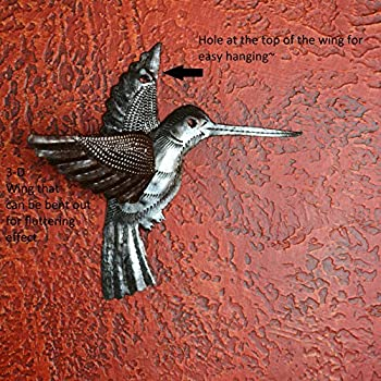 Hummingbirds, Haitian Recycled Metal Drum Wall Art (set of 2) 6