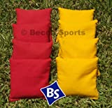 Cornhole Bags Set - 4 Yellow & 4 Red