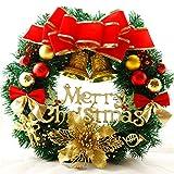LianLe®Motif Fleurs Artificielles Couronne de Noël XMas à l'intérieur et l'extérieur idéal pour décor la plupart des occasions,surtout dans supermarché,des magasins,des bureaux,le sapin de Noël ou DIY de la fête de Noël et etc....