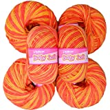 Vardhman Acrylic Knitting Wool, Pack Of 6 (Multi Orange) No.283 (Pack Of 10)