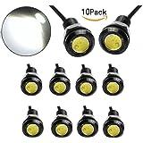 JKLcom LED Eagle Eye Lamps 12V 9W Led Light Bulbs Driving Light Running Lights Tail Light Lamp Bulbs 18mm Small light For Car Van SUV Coupe Sedan,Pack of 10 (Color: White)