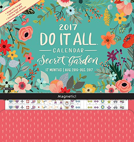 Orange Circle Studio 17-Month 2017 Do It All Magnetic Wall Calendar, Secret Garden (15557) (Refrigerator Calendar compare prices)
