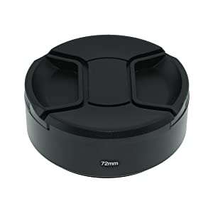 SIOTI Camera Standard Focus Metal Lens Hood with Cleaning Cloth and Lens Cap Compatible with Leica/Fuji/Nikon/Canon/Samsung Standard Thread Lens (Color: Standard Focus, Tamaño: 72mm)
