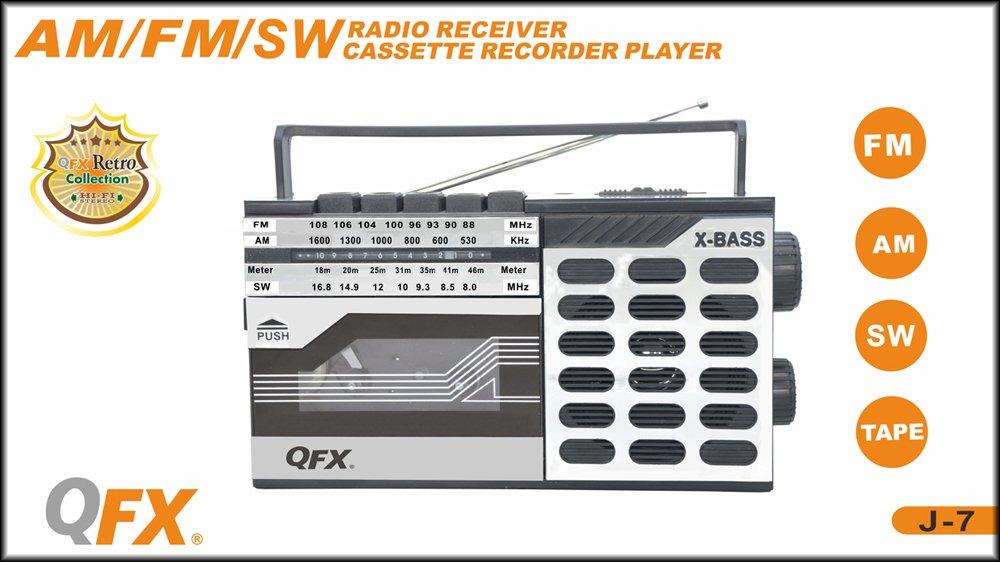 QFX J-7 Boombox AM/FM Cassette Recorder 1