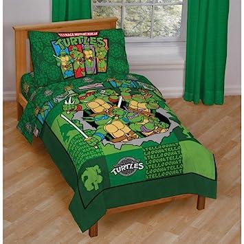 Teenage Ninja Turtles 4 Pc Toddler Bedding Set