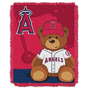 MLB Los Angeles Angels Field Woven Jacquard Baby Throw Blanket, 36x46-Inch by Northwest