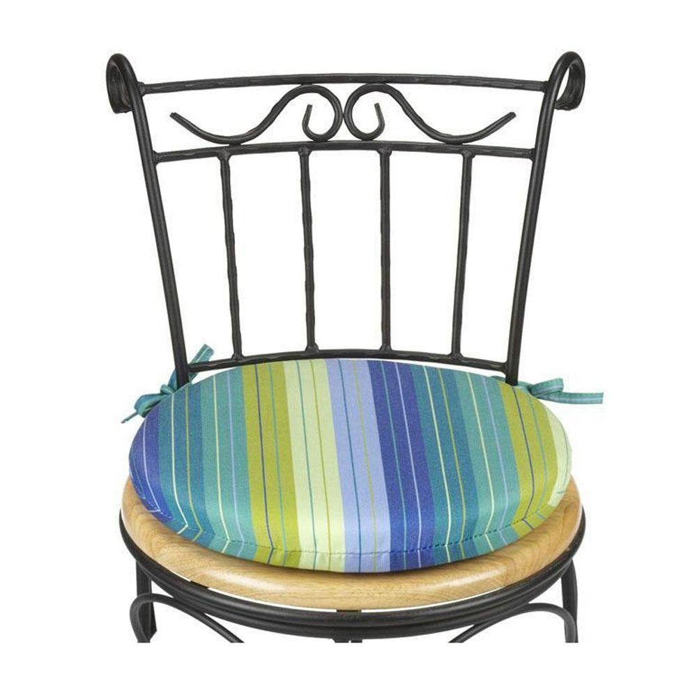 18 all weather round chair cushion seaside seville check price