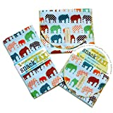 SnackTaxi Reusable Sandwich-sack Bag, Snack-sack Bag and Twice-as-nice Napkin Urban Circus Set.