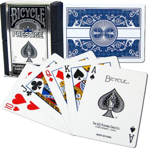 100-Kunststoff-Fahrrad-Prestige-Dura-Flex-Spielkarten-in-Blau-100-Plastic-Bicycle-Prestige-Dura-Flex-Cards-Blue-Rare