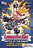 2017 Topps Garbage Pail Kids Series 2 Battle of the Bands EXCLUSIVE Factory Sealed Value Box with Special GROSS BEAR BONUS STICKERS! Look for Autograph, Sketch Cards & Printing Plates! WOWZZER!