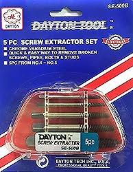 5 Pc Screw Extractor Set - Dayton