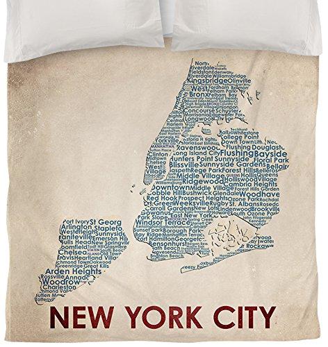Thumbprintz Duvet Cover, Twin, New York City