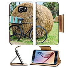 buy Msd Samsung Galaxy S6 Flip Pu Leather Wallet Case Vintage Bicycle In The Farm From Thailand Image 24532494