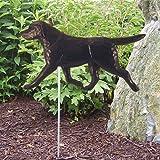 BLACK Labrador Retriever Garden Stake by Michael Park