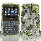 For Samsung S390g (StraightTalk/Net 10/Tracfone) Full Diamond Design Cover - Hawaiian Flowers FPD